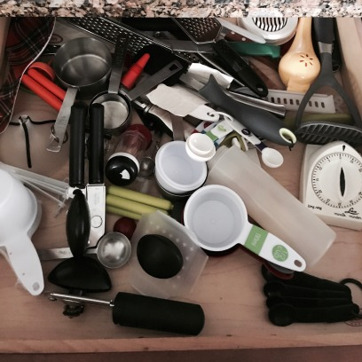 "The ""Can't find anything' utensil drawer"